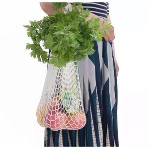 Handbags - French mesh net crochet grocery produce bag